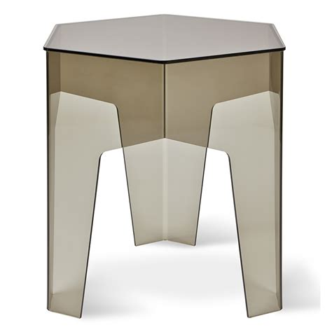 hive modern hive modern end table in smoked acrylic eurway