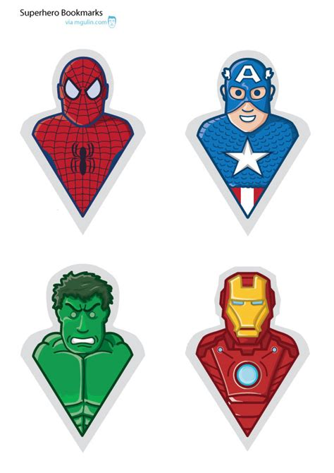 printable bookmarks superheroes diy superhero bookmarks m gulin