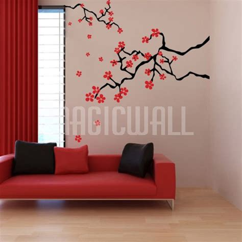 cherry blossom wall stickers wall decals japanese cherry blossom branches wall stickers