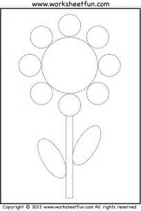 shape tracing and coloring worksheet circle oval