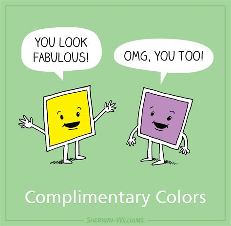 color jokes find out more about complementary shades for sherwin