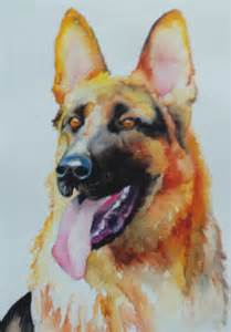 dogs painting the regal german shepherd watercolor