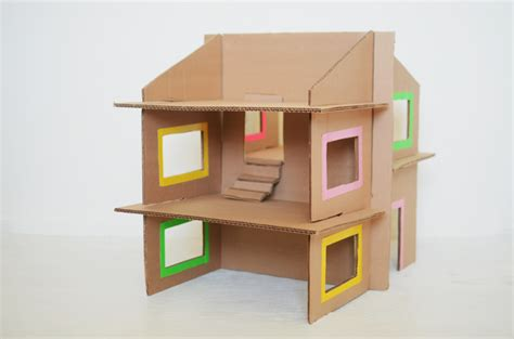cardboard doll house diy recycled cardboard dollhouse cakies