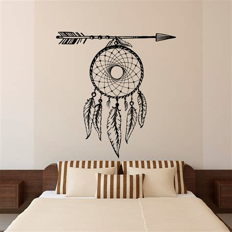 decals for home decor aliexpress com buy arrows feathers dreamcatcher wall