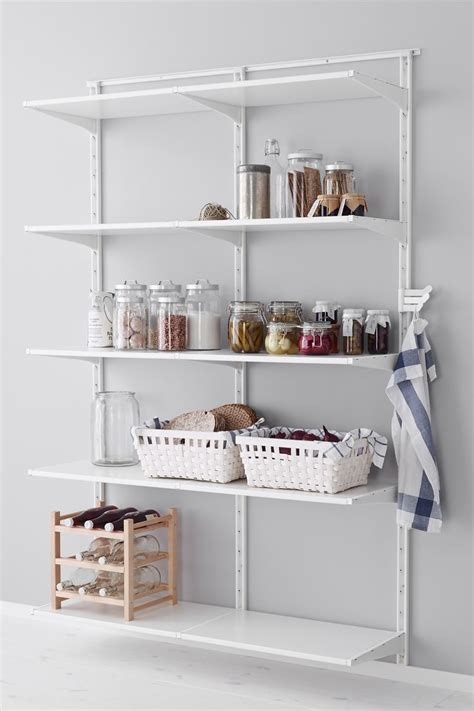 pantry wall shelving algot wall upright shelf and hook white shelves hooks and pantry