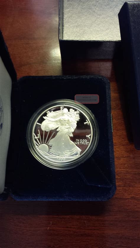 1 Oz Silver Coin 1999 by 1999 1 American Eagle Silver Bullion 1oz Silver Coin W Box