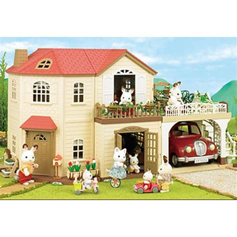Sylvanian Family Maple Manor With Carport by Maple Manor With Carport Sylvanian Families Houses 4622