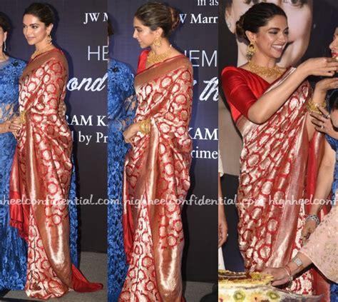 deepika padukone book sari style high heel confidential