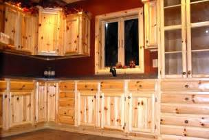 Pine Kitchen Cabinet by Custom Pine Cabinets Log Cabin Ideas Pinterest