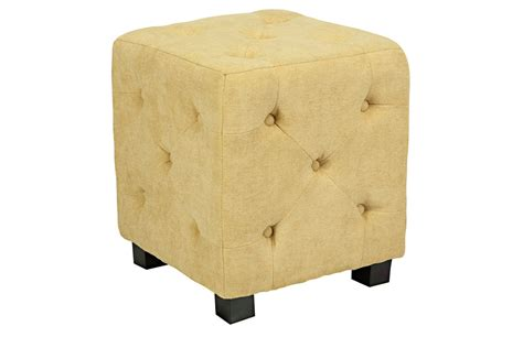 yellow and white ottoman duncan small tufted yellow cube ottoman at gardner white
