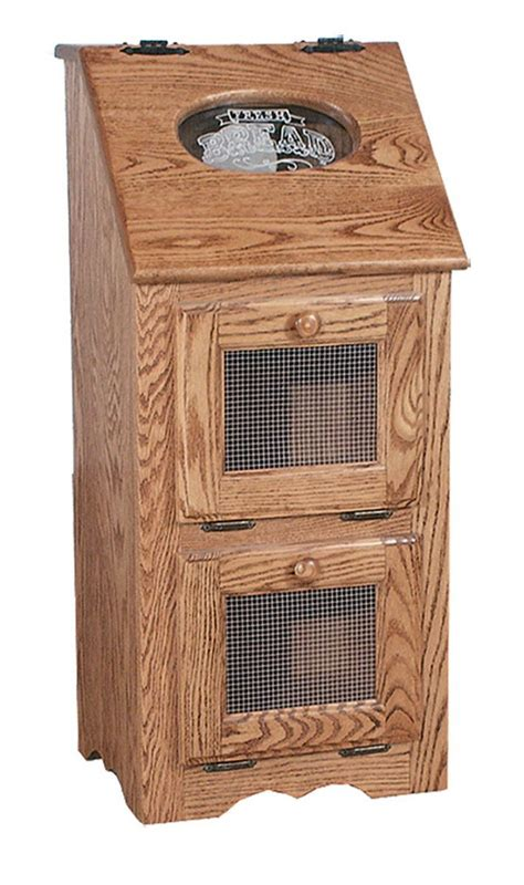 amish vegetable bin bread box potato storage solid wood