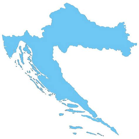 croatia map vector vector map of croatia at vectorportal