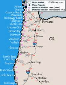 map of coastal cities oregon coast maps