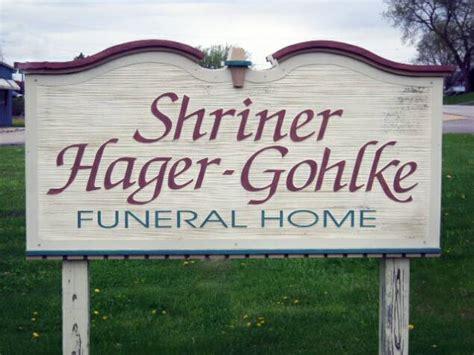shriner hager gohlke funeral home wi 325 4306