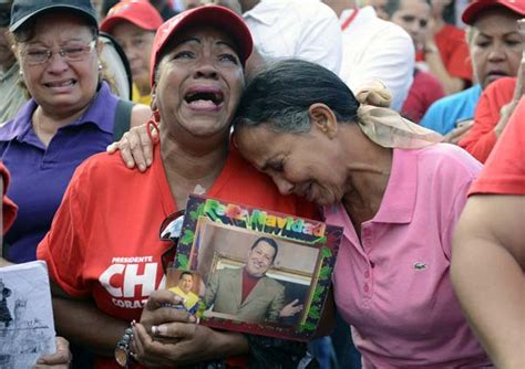 goodbye my president supporters cry for hugo chavez