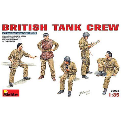 Model Kit Miniart 135 Tank Crew Wwii tank crew 5 plastic model figure 1 35