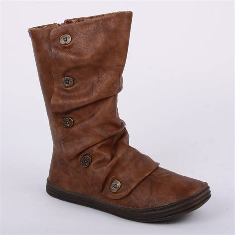 blowfish rammish womens zip faux leather boots brown