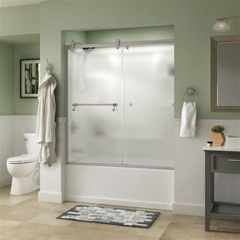 bathtubs with shower doors dreamline encore 56 in to 60 in x 58 in framed bypass