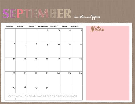 printable calendars september 2015 all lovely 10 free calendars for september 2015