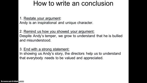 How To Write Essay Conclusions by How To Write A Conclusion