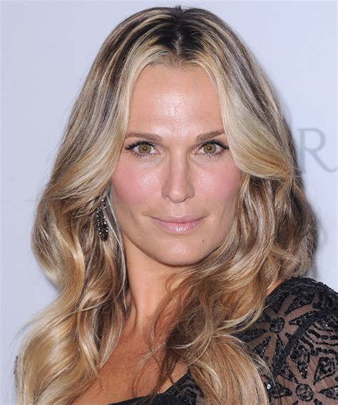 molly sims chin length for thin fine hair molly sims long wavy casual hairstyle medium blonde honey