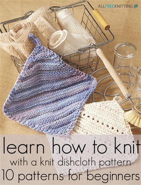 how to knit beginner learn how to knit with a knit dishcloth pattern 10