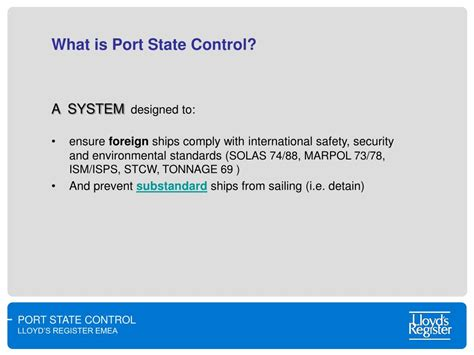 port state ppt port state ism compliance 10 years after