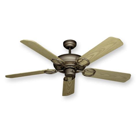 ceiling fans antique bronze outdoor wet rated 52 quot gulf coast trinidad ceiling fan