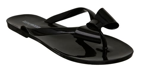 steve madden bow sandals steve madden tropic bow detail jelly sandals in black lyst