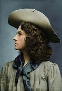 Carolyn Barnes 19c American Women Colorized Photo Of Annie Oakley