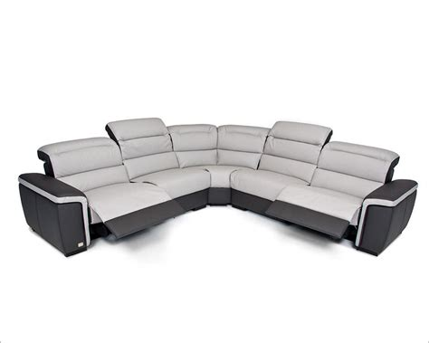 contemporary sectional with recliner modern full italian leather sectional sofa w recliners