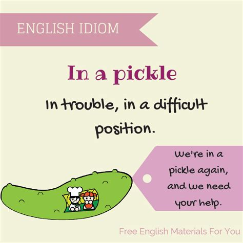 in a pickle and other idioms visual idioms free materials for you