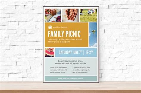 Diy Printable Picnic Collage Event Template Flyer For Church Free Printable Church Event Flyer Templates