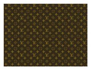 brown louis vuitton pattern a4 icing sheet elegant edible icing