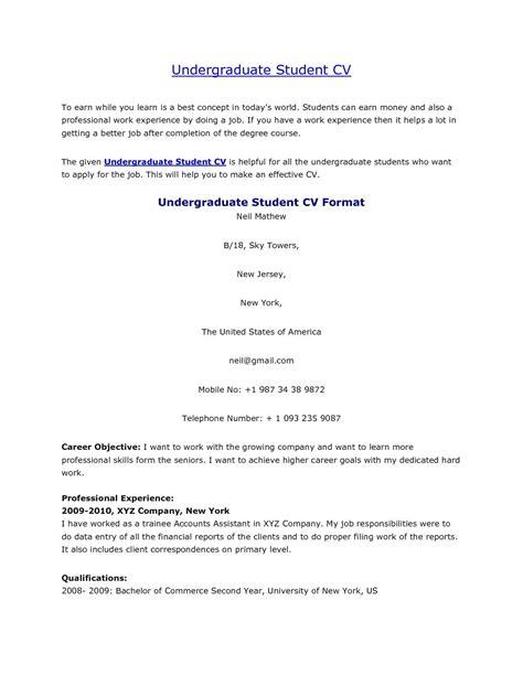 cv template for students undergraduate student cv http jobresumesle 1058
