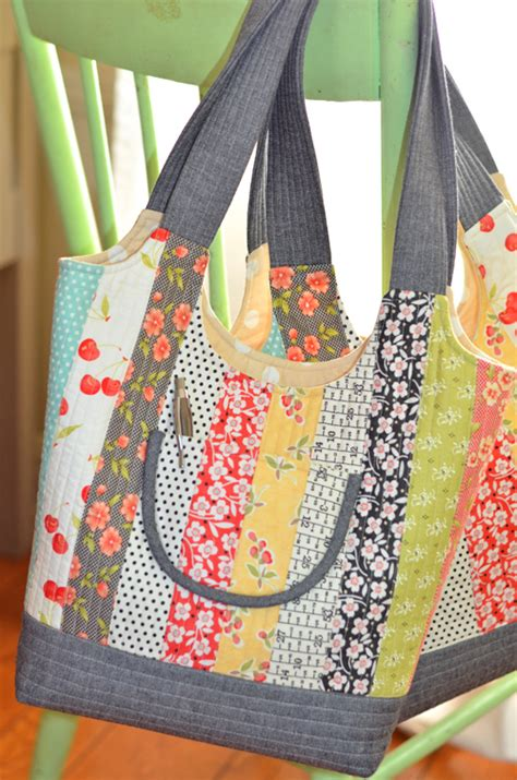 pattern quilted purse feedsack bag pattern from fig tree quilts includes three