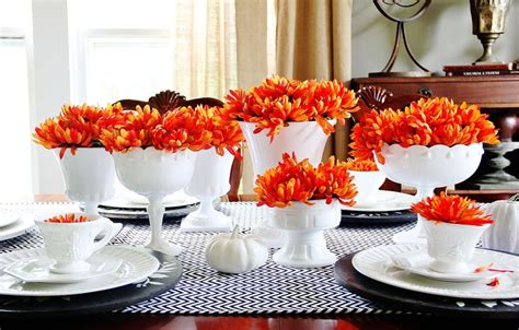 modern fall decor thanksgiving tablescapes 2012 every detail