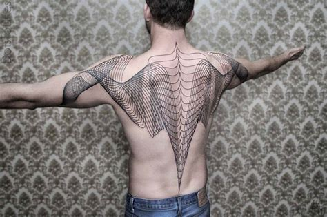 Tattoo Geometric Lines | geometric line tattoos by chaim machlev elegantly flow