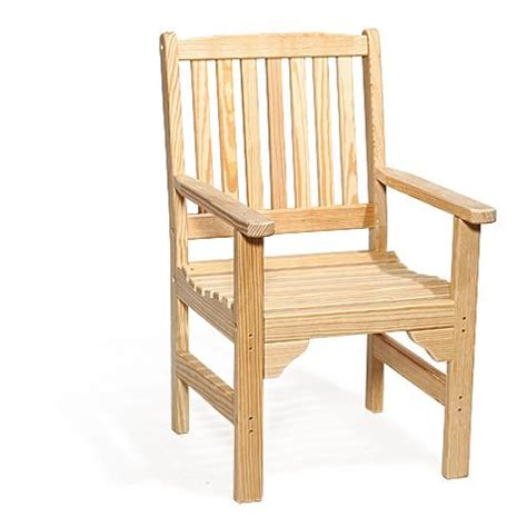 Amish Pine Wood English Garden Chair Amish Outdoor Wooden Patio Chair