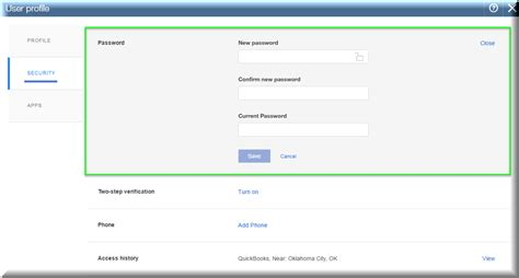 reset quickbooks online change your password in quickbooks online and qbo
