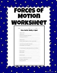 Forces And Motions Worksheets by Inertia Velocity And Speed Science Worksheet