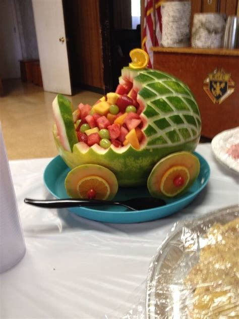 Watermelon Carving Baby Shower by 17 Best Ideas About Watermelon Baby Carriage On