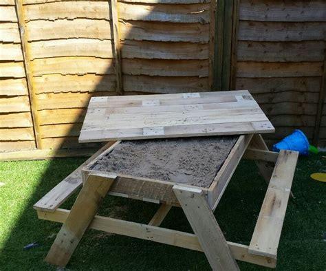 build  kids  picnic table  sandbox