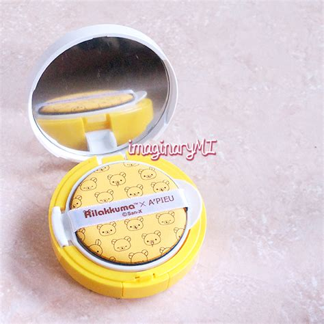 Bedak Wajah A Pieu Rilakkuma Air Fit Cushion Original imaginary friend review a pieu air fit cushion foundation x rilakkuma no 23