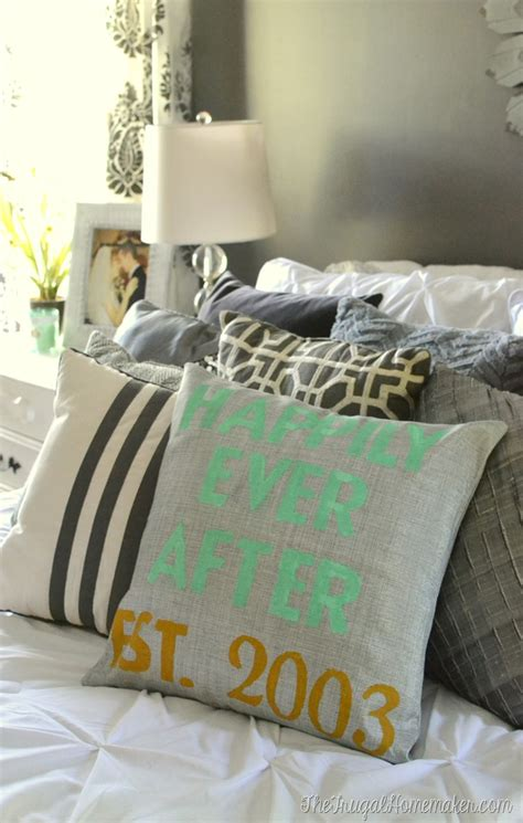 How To Make Pillow Fluffy Again by How To Make A Personalized Stenciled Pillow
