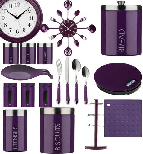 White Kitchen Canisters by Purple Kitchen Storage Tea Coffee Sugar Cutlery Set