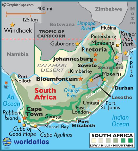 printable road maps south africa south africa large color map