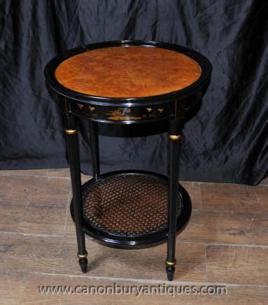 Französisch Bei Tisch by Franz 246 Sisch Black Lacquer Side Cocktail Tisch Chinoiserie