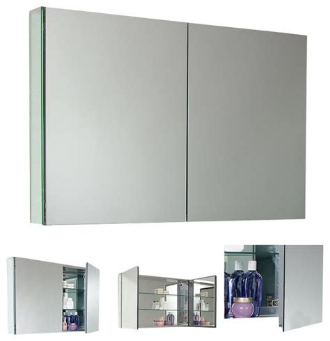 Mirrored Wall Sconces For Candles Fresca Large Bathroom Medicine Cabinet W Mirrors Modern