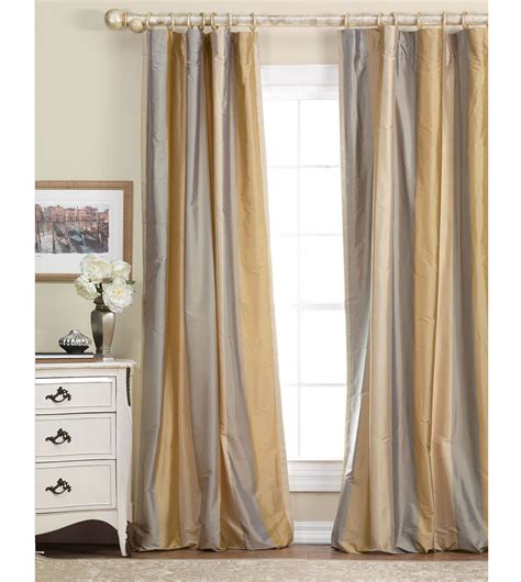 gold and cream striped curtains gold and gray silk curtains luxury bedding by eastern